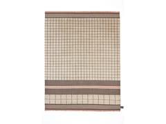 - Tappeto fatto a mano in lana a motivi geometrici QUADRO CELESTE #34 - cc-tapis ®