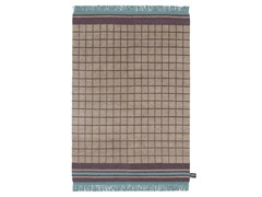 - Tappeto fatto a mano in lana a motivi geometrici QUADRO CELESTE #5 - cc-tapis ®