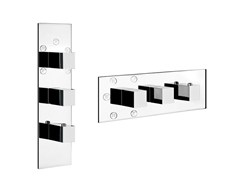 - 3 hole thermostatic shower mixer QUADRO WELLNESS 43012 - Gessi