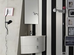 - Lacquered single vanity unit QUANTUM - COMPOSITION 1 - Arcom