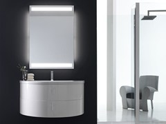 - Lacquered single vanity unit QUANTUM - COMPOSITION 2 - Arcom