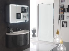 - Lacquered single vanity unit QUANTUM - COMPOSITION 3 - Arcom