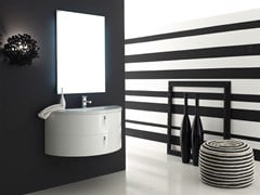 - Lacquered single vanity unit QUANTUM - COMPOSITION 5 - Arcom