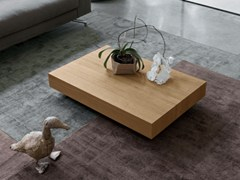 - Low oak coffee table QUARZO-CRISTALLO   Oak coffee table - Dall'Agnese