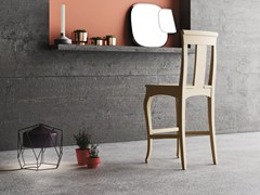 - Solid wood counter stool with footrest QUEEN | Counter stool - Imperial Line