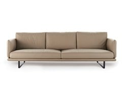 - Upholstered leather sofa RAIL | Leather sofa - Arketipo