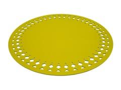 - Solid-color round felt rug RANA | Round rug - HEY-SIGN