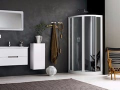 - Corner glass shower cabin with sliding door RAPID - 7 - INDA®