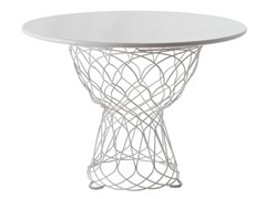 - Round steel garden table RE-TROUVÉ | Round table - EMU Group S.p.A.