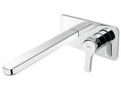 - Miscelatore per lavabo a muro monocomando con piastra READY 43- 4310208 - Fir Italia