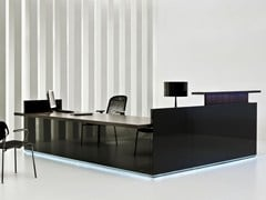 - Modular Reception desk with Built-In Lights FURONTO | Reception desk - BALMA
