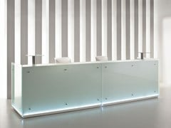 - Banco per reception modulare in vetro con illuminazione FURONTO | Banco per reception - BALMA