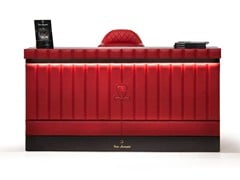 - Leather Reception desk with Built-In Lights SUZUKA | Reception desk - Tonino Lamborghini Casa by Formitalia Group