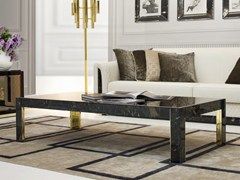 - Low rectangular marble coffee table for living room ROYAL | Rectangular coffee table - Formitalia Group