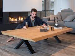 - Low wood veneer coffee table FOREST OAK   Rectangular coffee table - Joli