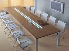 - Tavolo da riunione rettangolare con sistema passacavi IN | Tavolo da riunione rettangolare - BALMA