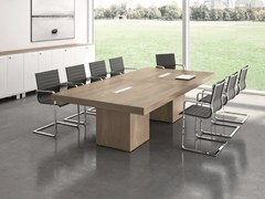 - Rectangular meeting table with cable management T45 | Rectangular meeting table - Quadrifoglio Sistemi d'Arredo