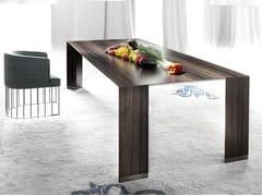 - Rectangular wooden table PENSAMI | Rectangular table - ERBA ITALIA