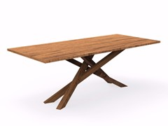 - Rectangular mahogany garden table BRIDGE | Rectangular table - Talenti