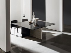 - Square wood and glass table REGOLO | Square table - SOVET ITALIA