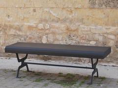 - Backless galvanized steel Bench RETRÒ | Galvanized steel Bench - CITYSì