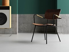 - Walnut chair with armrests RETRÒ P - Imperial Line