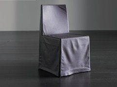 - Upholstered chair with removable cover RIDER QUATTRO - Meridiani