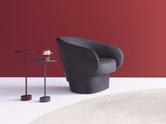 - Leather easy chair with armrests ROC | Leather easy chair - COR Sitzmöbel Helmut Lübke