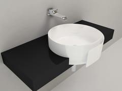 - Semi-inset ceramic washbasin ROLL 56   Semi-inset washbasin - CERAMICA FLAMINIA
