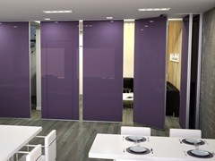 - Sliding tempered glass operable wall ROLLING WALL   Glass operable wall - Arcadia Componibili - Gruppo Penta