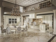 Cucina componibile in marmo con isola ROMANTICA DECOR - GOLD EDITION - FEBAL CASA BY COLOMBINI GROUP