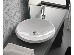 - Countertop round ceramic washbasin ROUND - Hidra Ceramica
