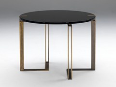 - Lacquered round table BLACK AND GOLD | Round table - Paolo Castelli