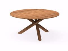 - Round mahogany garden table BRIDGE   Round table - Talenti