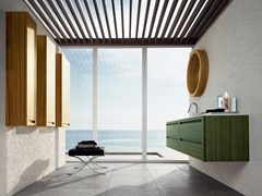 - Zebrano bathroom cabinet / vanity unit RUSH - COMPOSITION 10 - Arcom