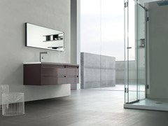- Lacquered single vanity unit RUSH - COMPOSITION 18 - Arcom