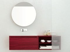 - Single zebrano vanity unit RUSH - COMPOSITION 5 - Arcom