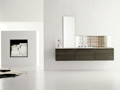 - Single zebrano vanity unit RUSH - COMPOSITION 6 - Arcom