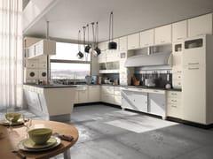 - Cucina componibile laccata con penisola SAINT LOUIS - COMPOSIZIONE 03 - Marchi Cucine