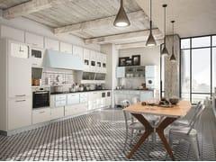 - Cucina componibile laccata SAINT LOUIS - COMPOSIZIONE 04 - Marchi Cucine