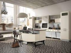 - Cucina componibile laccata con isola SAINT LOUIS - COMPOSIZIONE 05 - Marchi Cucine