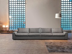 - 5 seater upholstered sofa with removable cover SANDER   5 seater sofa - Domingo Salotti