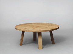 - Round wooden coffee table SC51 | Wooden coffee table - Janua