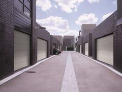 Porta per garage sezionale senza guide a soffittoSECURLAP - SIX - SILVELOX