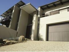 Porta per garage sezionale senza guide a soffittoSECURLAP - TWO - SILVELOX