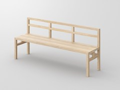 - Solid wood bench with back SENA | Bench with back - vitamin design