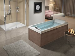 Vasca da bagno idromassaggio rettangolare in acrilicoSENSE 4 - NOVELLINI