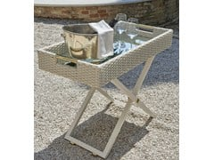 - Height-adjustable garden side table SERVANT | Rectangular coffee table - Samuele Mazza Outdoor Collection by DFN