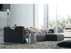- Sectional fabric sofa with removable cover with chaise longue SHANGAI | Sofa with chaise longue - Poliform