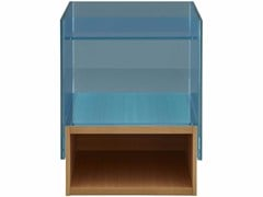 - Square wood and glass side table HAMPTON | Side table - ROSET ITALIA